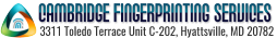 Cambridge Fingerprinting Services Mobile Logo