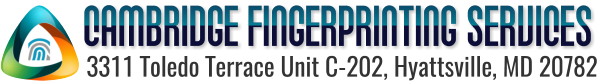 Cambridge Fingerprinting Services Retina Logo
